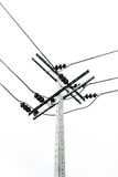 Electric pole isolated Stock Photo
