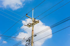 Electric pole Royalty Free Stock Image