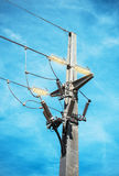 Electric pole. Royalty Free Stock Photo
