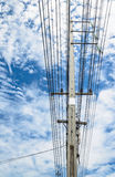 An electric pole Royalty Free Stock Photos