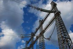 Electric poles Stock Image