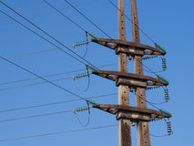 Electric poles Network Royalty Free Stock Photo