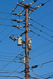 Electric poles Royalty Free Stock Image