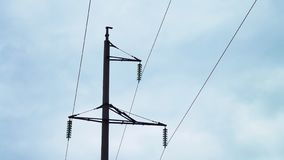 Electric poles and wires. Electric poles and wires against the sky royalty free stock images