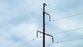 Electric poles and wires. Electric poles and wires against the sky royalty free stock photos