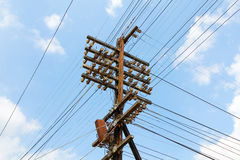 Electric poles and wires. Stock Photo