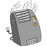 Electric Portable Space Heater Stock Images