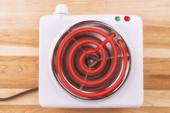 Electric portable stove Royalty Free Stock Photography