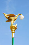 Electric post. Golden swan design of electric post Stock Photography