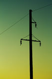Electric post Royalty Free Stock Photo