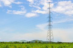 Electric post Stock Photography