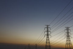 Electric post Royalty Free Stock Photography