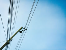 Electric post Royalty Free Stock Images