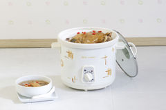 Electric pot for casserole food in the kitchen Stock Image