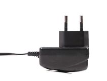 Electric power adapter. Close up. Stock Photography