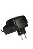 Electric  power adapter (isolated) Royalty Free Stock Photos