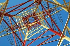 Electric Power alinea el pilón Imagenes de archivo