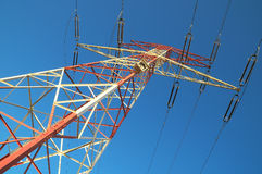 Electric Power alinea el pilón Fotografía de archivo