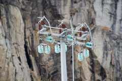 Electric Power allinea il connettore nella neve Fotografia Stock