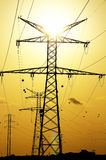 Electric Power allinea il pilone Fotografia Stock Libera da Diritti