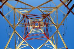 Electric Power allinea il pilone Fotografie Stock