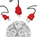 Electricity Sockets Sphere royalty free illustration