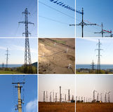 Electric power collage stock photo