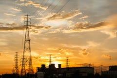 Electric Power coloca Imagen de archivo libre de regalías