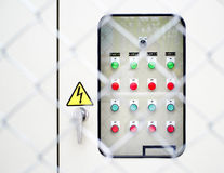 Electric power control panel Royalty Free Stock Image