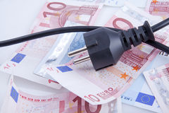 Electric power cost Royalty Free Stock Images