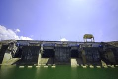 Electric power dam Royalty Free Stock Photos
