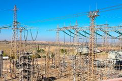 Electric Power Distribution Plant Facility. Johannesburg, South Africa - April 11 2012: Electric Power Distribution Plant Facility royalty free stock photography