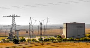 Electric Power Distribution Plant Facility. Johannesburg, South Africa - April 11 2012: Electric Power Distribution Plant Facility royalty free stock image