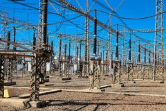 Electric Power Distribution Plant Facility. Johannesburg, South Africa - April 11 2012: Electric Power Distribution Plant Facility stock photos