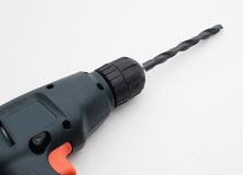 Electric Power Drill. Up close on white background Royalty Free Stock Images
