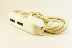 Electric power extension cord Stock Photography
