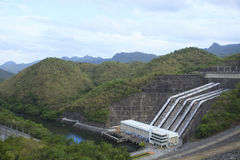 Electric power generator building Sri Nakharin Dam, Kanchanaburi Stock Photography