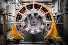 Electric power generator. An electric power generator, dynamo detail, component Royalty Free Stock Image
