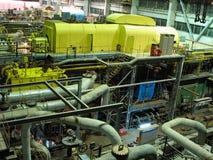 Electric power generator, night scene Royalty Free Stock Photo