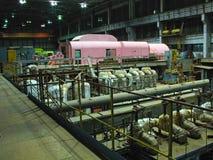 Electric power generator, night scene Stock Photo