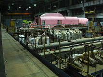 Electric power generator, night scene Stock Photography