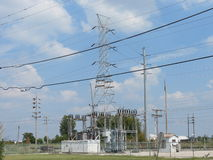 Electric power grid Stock Images