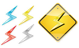 Electric power icon Stock Photos