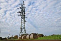 Electric Power-Lijnenpyloon Stock Foto's