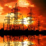 Electric power line. Royalty Free Stock Images