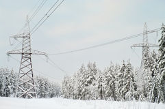 Electric power line Royalty Free Stock Images