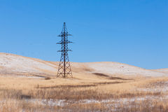 Electric power line Stock Image
