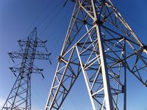 Electric power line royalty free stock image