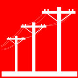 Electric Power line post Royalty Free Stock Photography