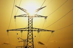 Electric Power Line Pylon Royalty Free Stock Photo